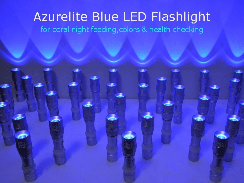 Flashlight biru Azurelite