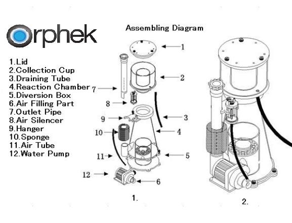 rphek 스키머 조립 Diagrama