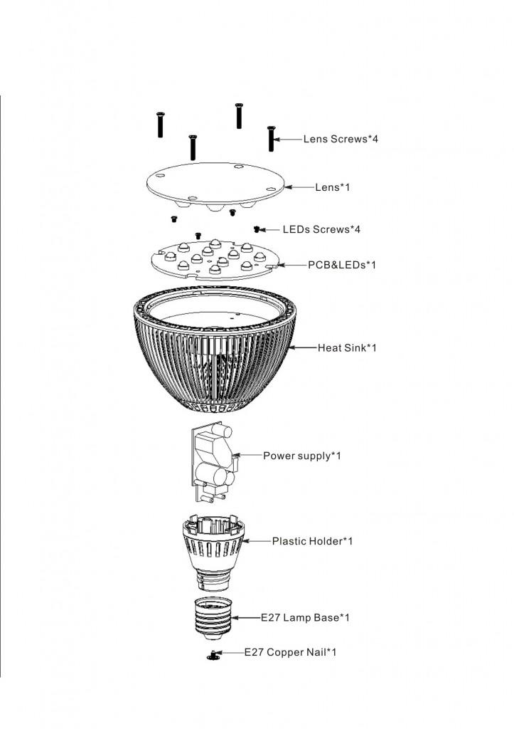 PAR38 LED