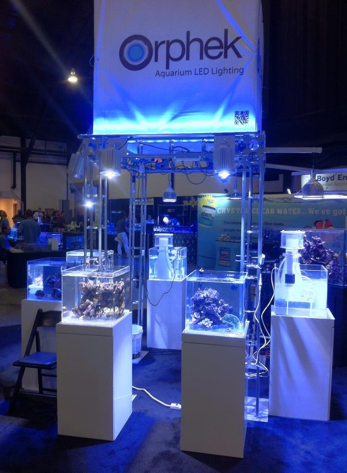 Orphek-Booth-Marine Aquarium--Expo-2014