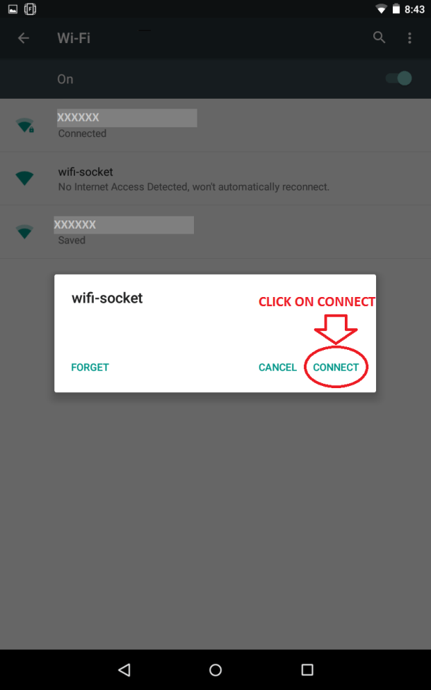 Connecting via wifi-socket-3