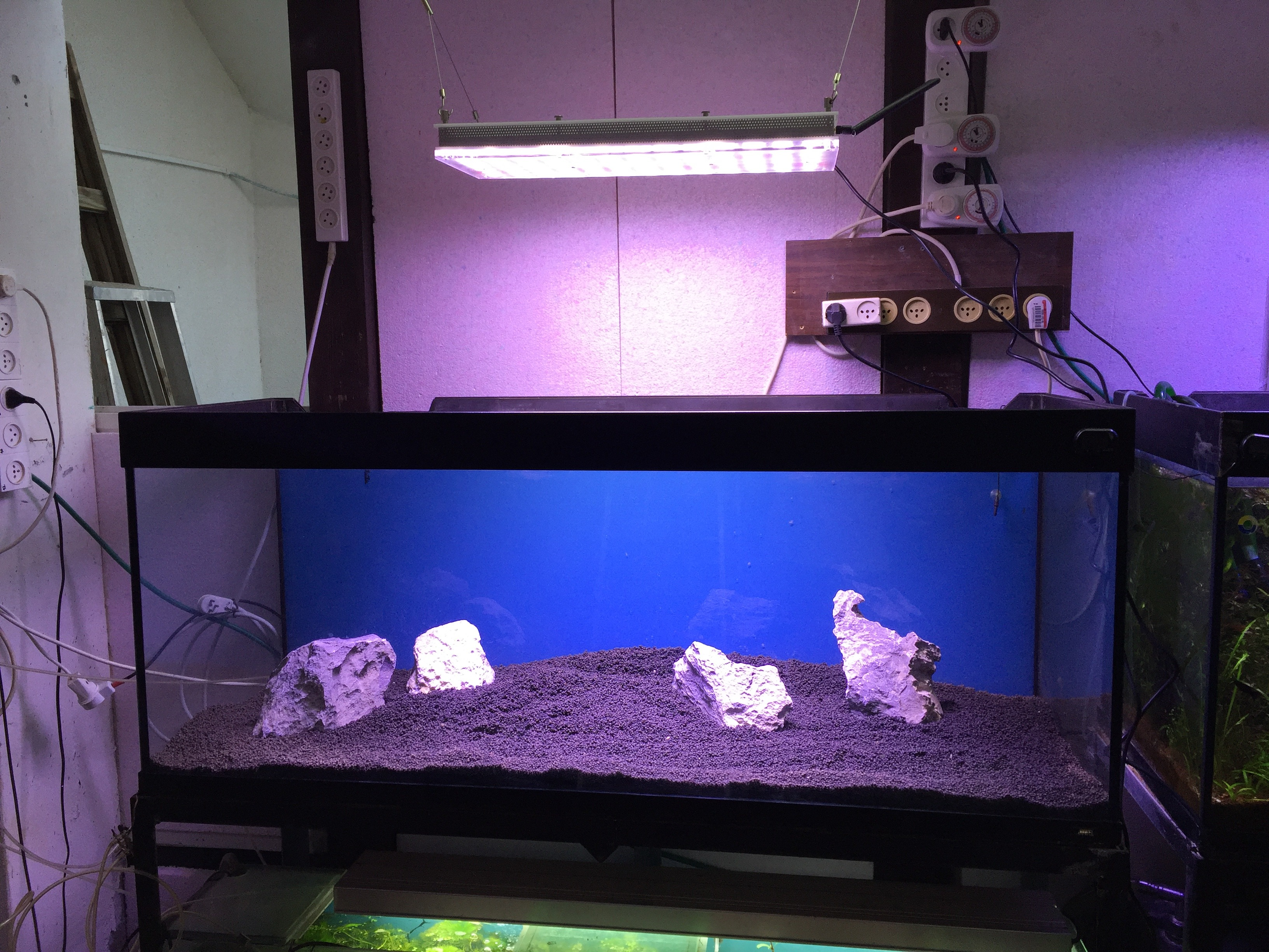 Orphek_Atlantik_v3instalation_light_on_over_aquarium