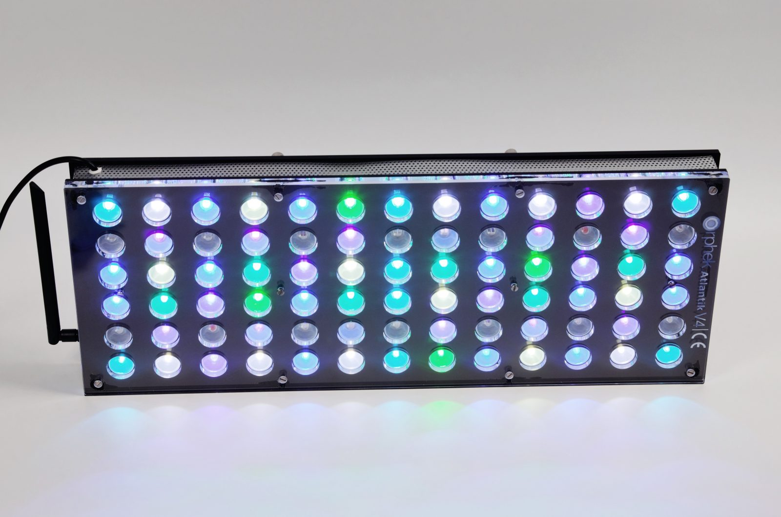 Orphek-Aquarium-LED-Lighting-Reef-Atlantik-V4-ljus på kanalen 1 + 2 + 3