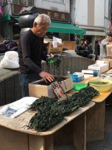 오카 치 마치 식품 시장