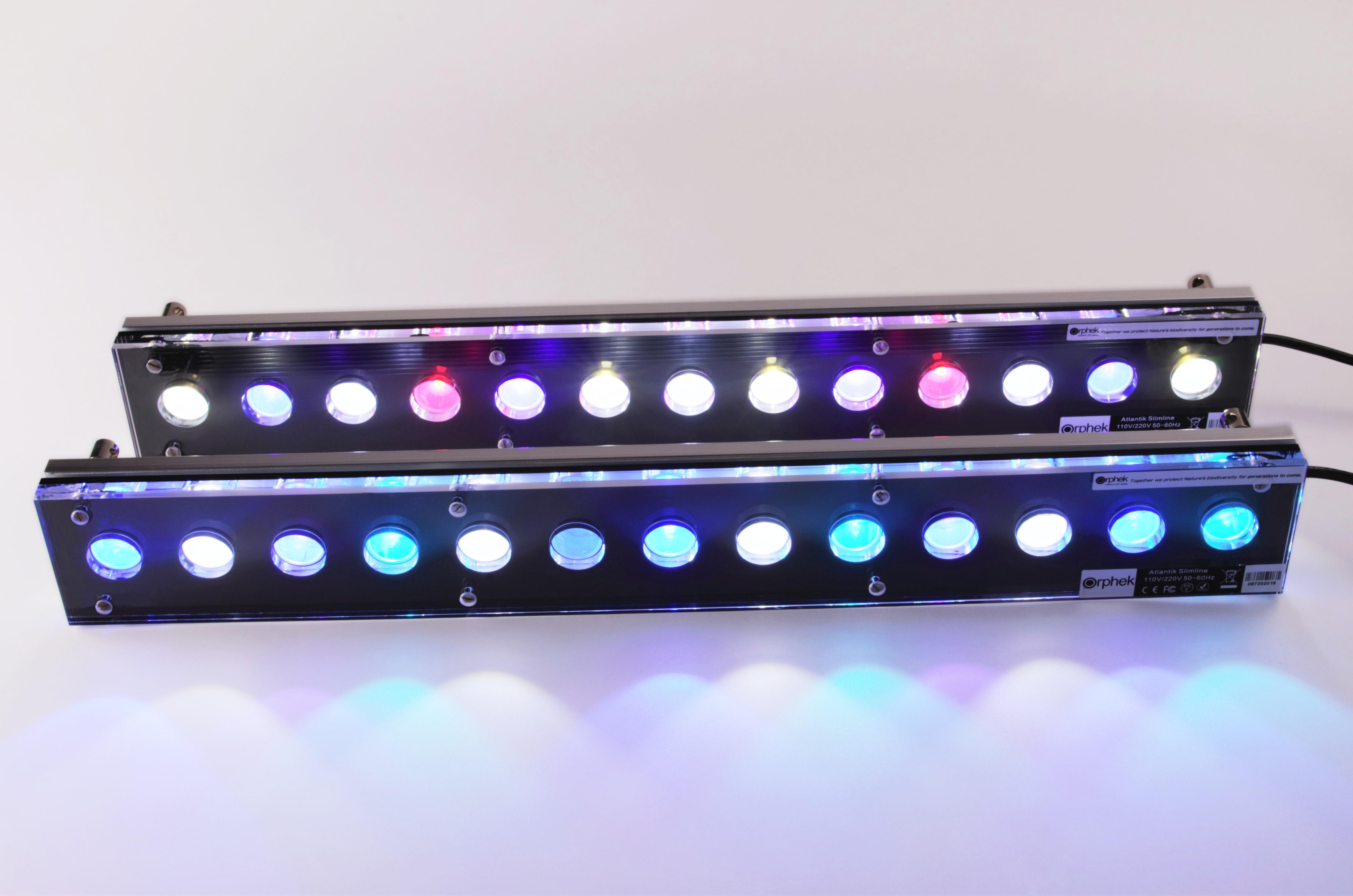 slim line 24 led beleuchtung orphek aquarium led beleuchtung. Black Bedroom Furniture Sets. Home Design Ideas