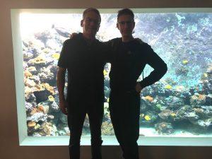 Besuch des schönen 30000 Liter Riffaquariums