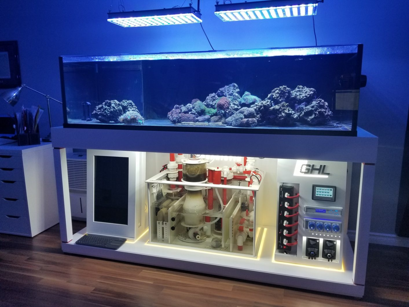 high end reef aquarium build