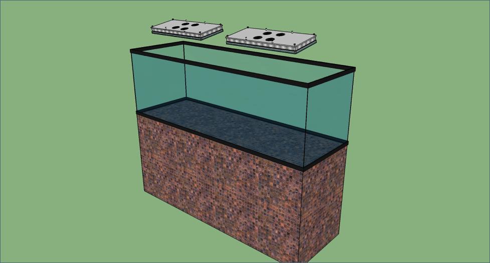 luce del serbatoio della barriera corallina dell'acqua salata atlantik v4