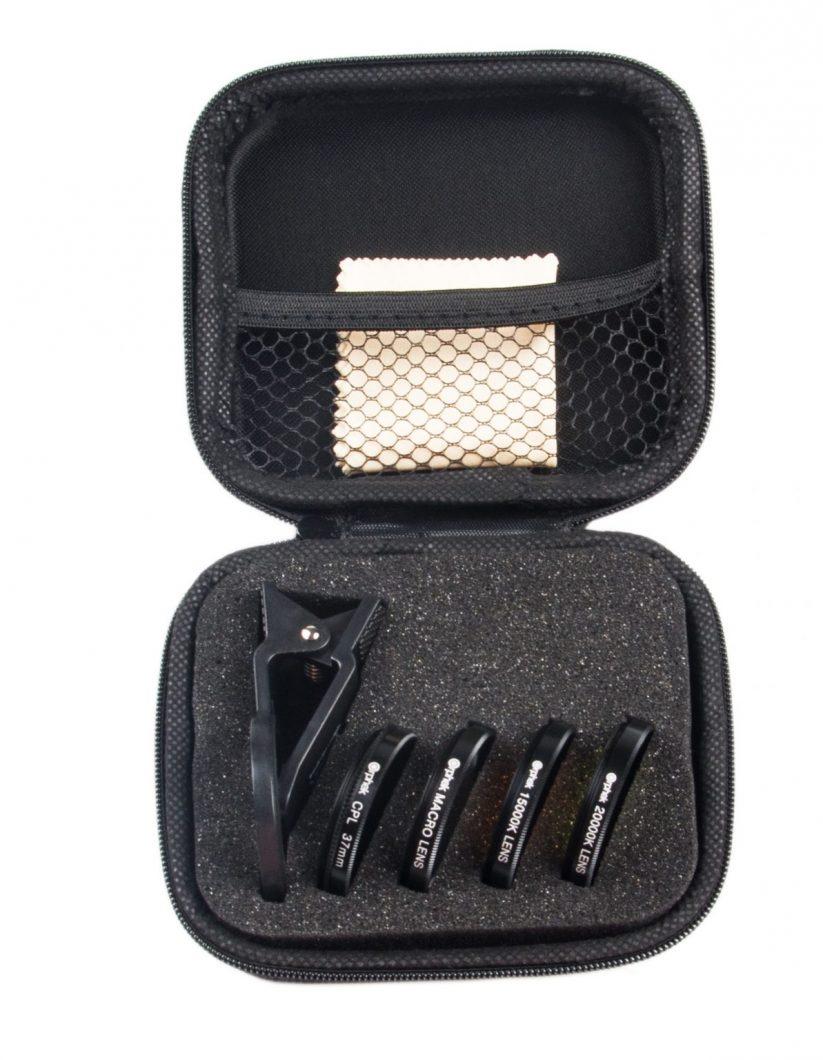 Komplet staklenih leća Orphek optički filtar s lećom, kopčom i krpom za čišćenje